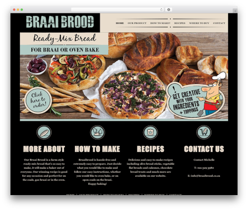 WordPress template Jupiter - braaibrood.co.za