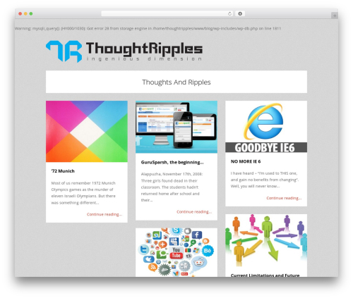 WordPress theme Tetris - blog.thoughtripples.com