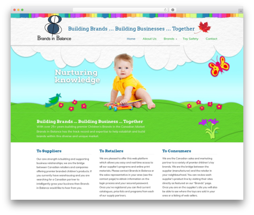 WordPress website template U-Design - brandsinbalance.com