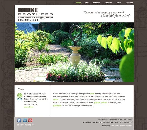 Burke Brothers Landscape landscaping WordPress theme