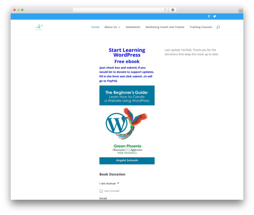 Divi business WordPress theme - bizonlinelearningcenter.com