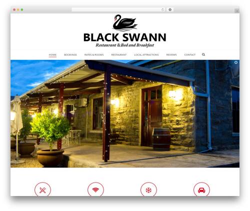 Jupiter WordPress restaurant theme - blackswann.co.za