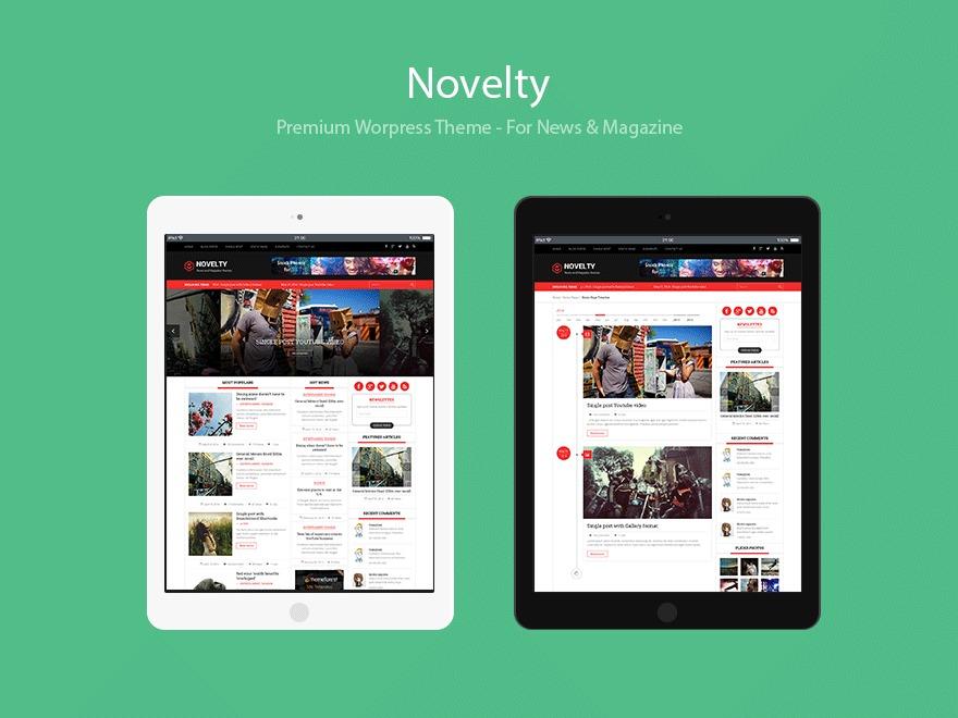 Novelty best WordPress magazine theme