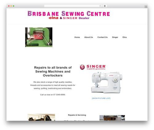 Responsive theme WordPress free - brisbanesewingcentre.com.au