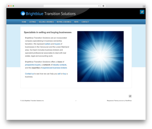 Responsive WordPress theme download - brightblue-solutions.com