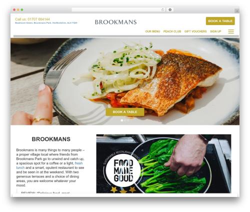 Theme WordPress Peach Pubs - brookmanspub.co.uk