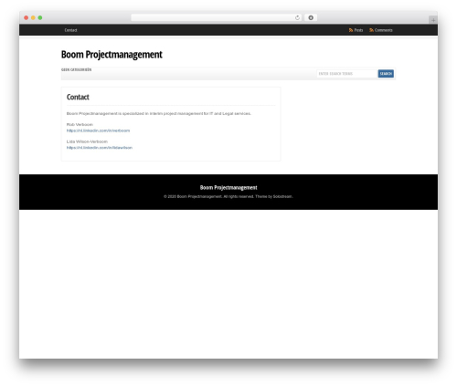 Theme WordPress WP-Clear - boomprojectmanagement.nl