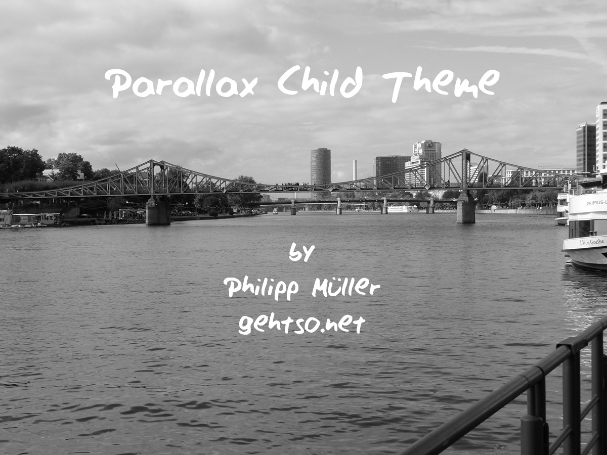 Themify Parallax Child WordPress website template