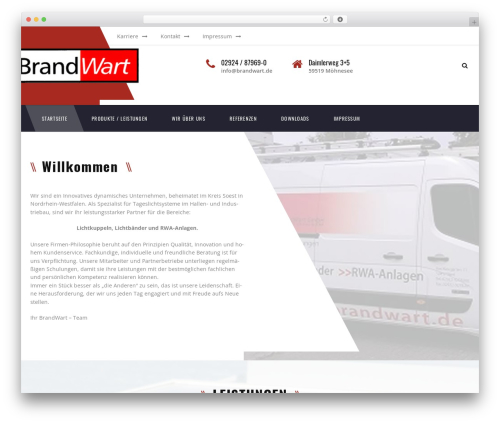 Transport premium WordPress theme - brandwart.net