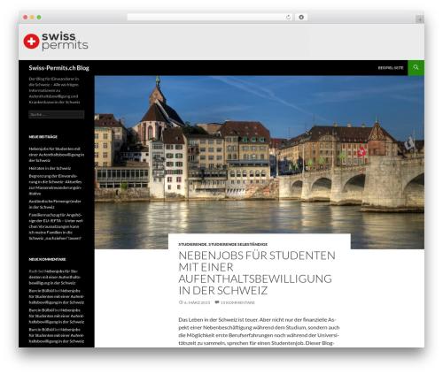 Twenty Fourteen template WordPress free - blog.swiss-permits.ch/de