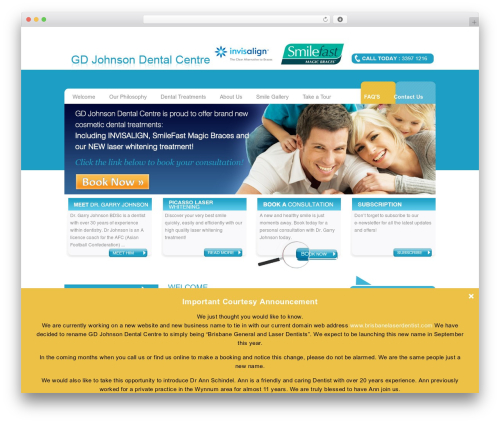 Free WordPress IMG Mouseover plugin - brisbanelaserdentist.com
