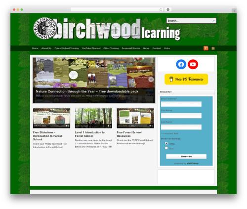 Arras theme WordPress - birchwoodlearning.co.uk