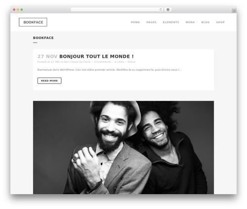Bridge template WordPress - bookface.ch