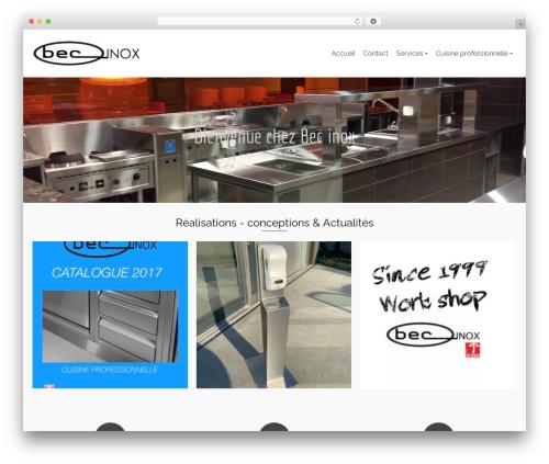 Pinnacle WordPress theme - bec-inox.ch