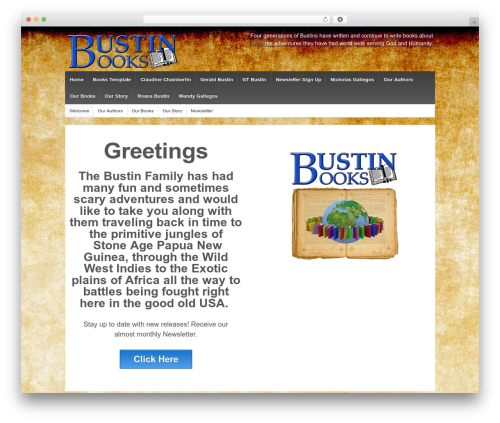 Responsive WordPress template free - bustinbooks.com