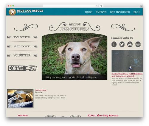 Toolset Bootstrap premium WordPress theme - bluedogrescue.com