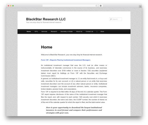 Twenty Eleven template WordPress free - blackstarresearch1.com