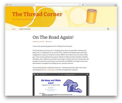 Twenty Thirteen theme free download - blog.tattingcorner.com