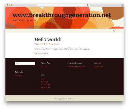 Twenty Thirteen WordPress free download - breakthroughgeneration.net
