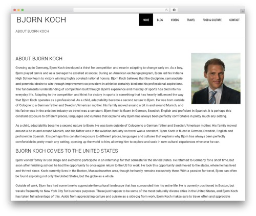 WordPress theme accurate - bjornkoch.com