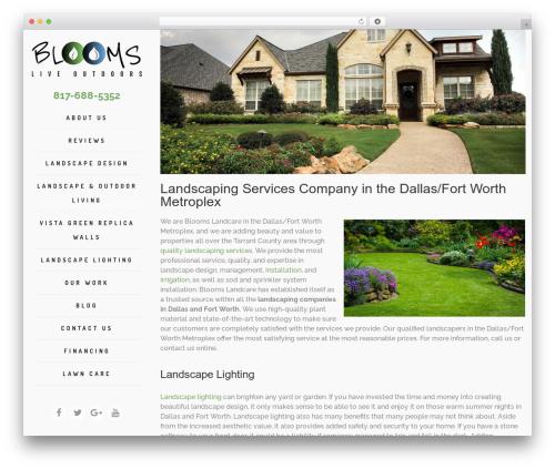WordPress website template Archi - bloomslandcare.com