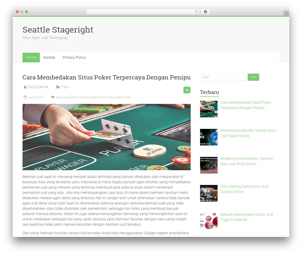 Accelerate free WP theme - seattlestageright.org