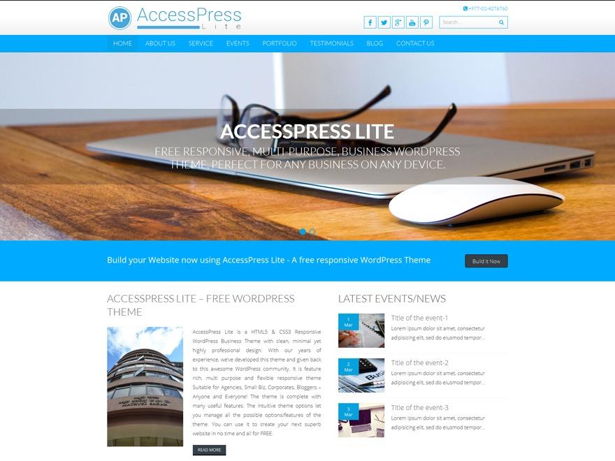 Accesspress Lite Child WordPress theme