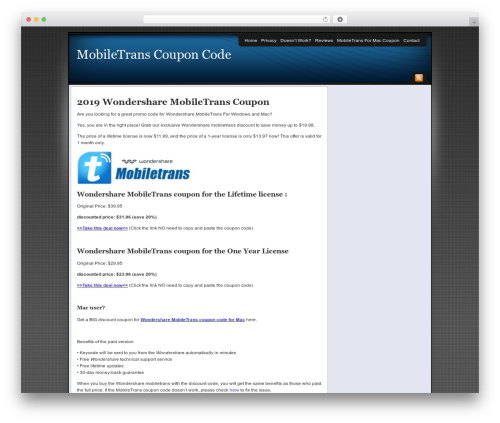 Affiliate Internet Marketing theme theme WordPress - uptowntreasures.org