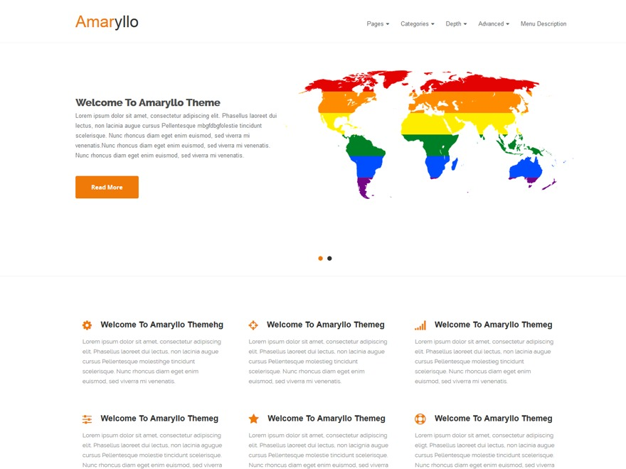 Amaryllo template WordPress free