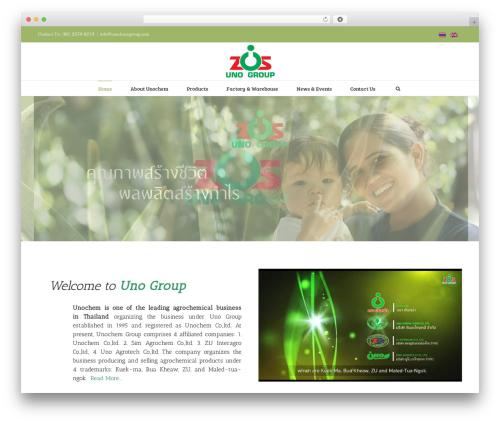 Avada WordPress theme - unochemgroup.com