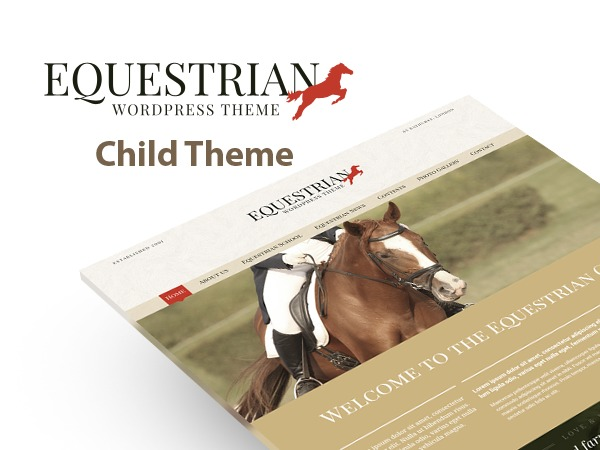 Best WordPress template Equestrian Child