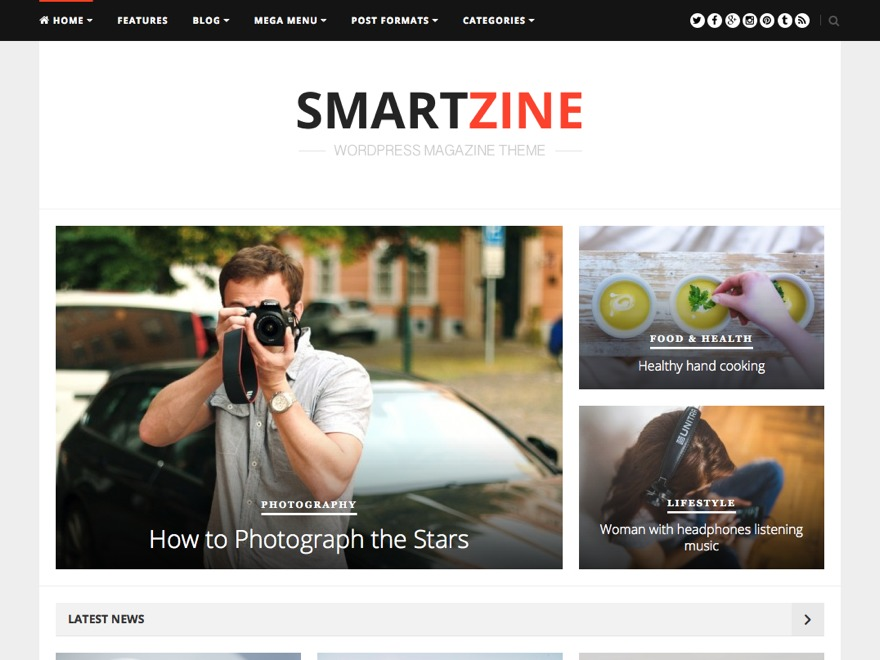 Best WordPress theme SmartZine