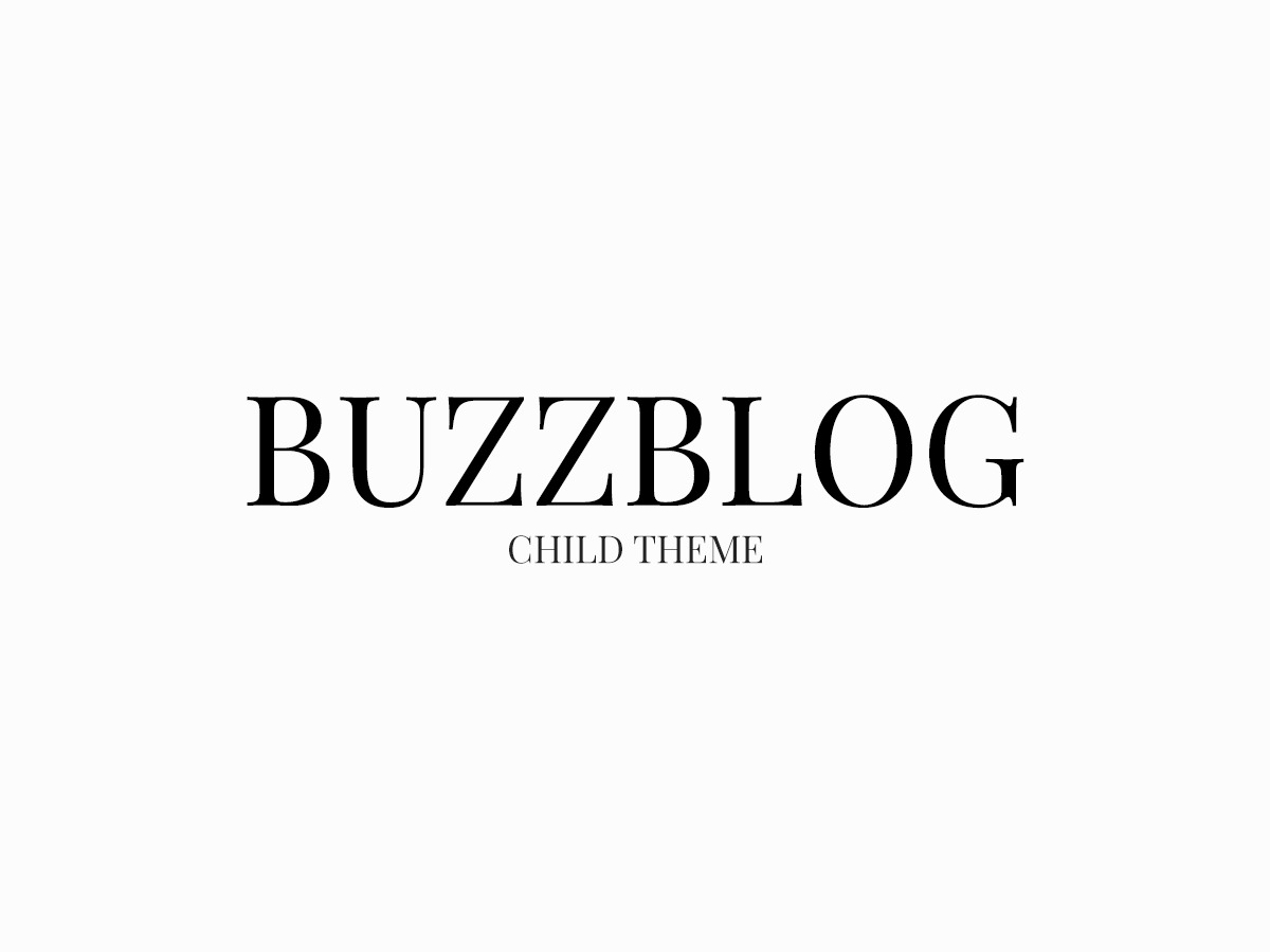 Buzzblog Child WordPress blog template
