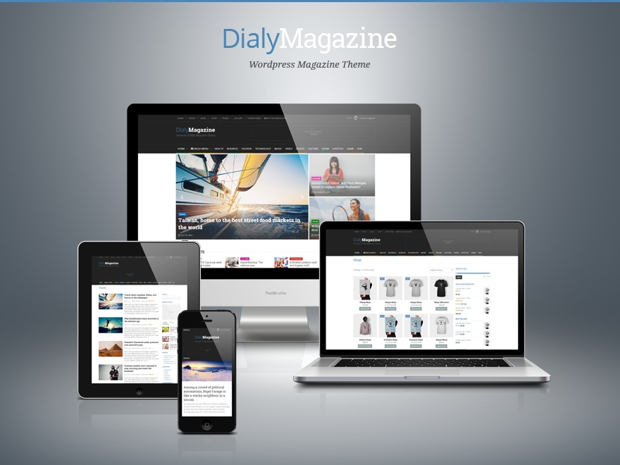DialyMagazine Premium Theme best WordPress magazine theme