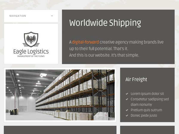 Eagle Logistics WordPress blog template