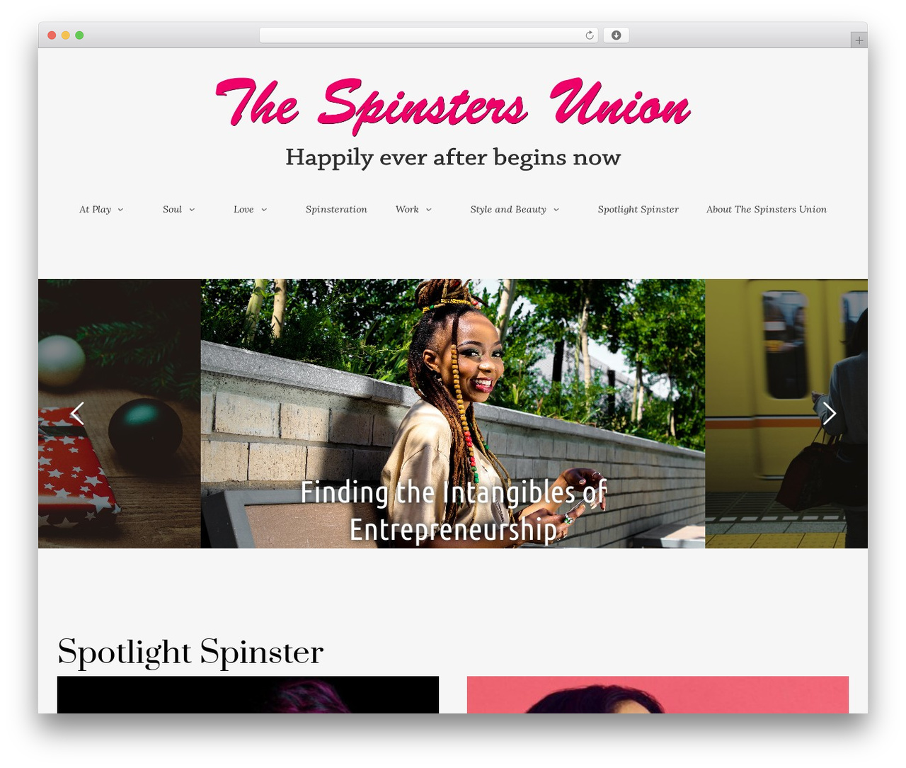 Esquise WP template - thespinstersunion.com