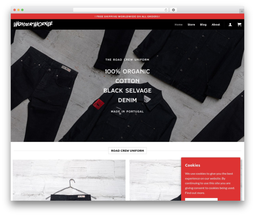 Flatsome fashion WordPress theme - wonderworkerdenimlab.com