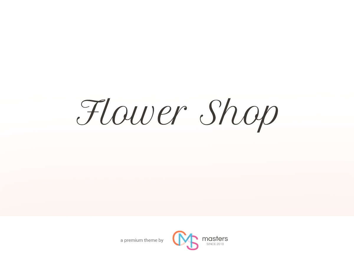 Flower Shop WordPress blog theme