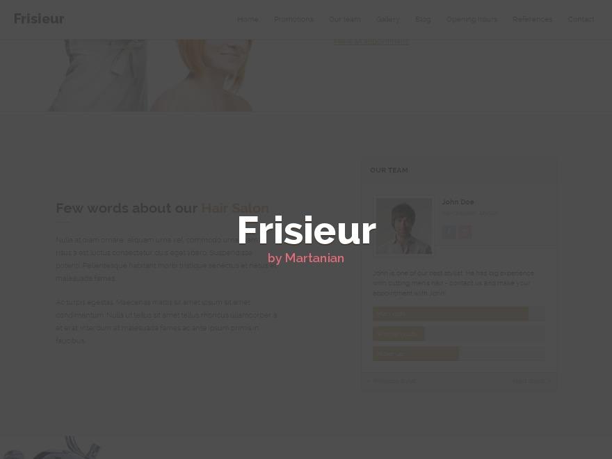Frisieur WordPress Theme best WordPress template