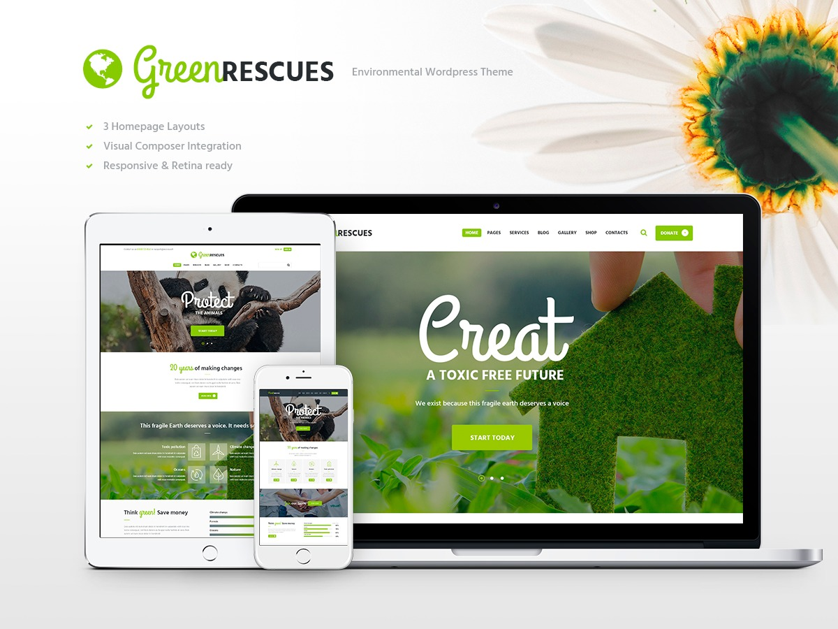 Green Child theme WordPress