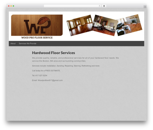 Gridiculous WordPress theme - woodprofloorservice.com