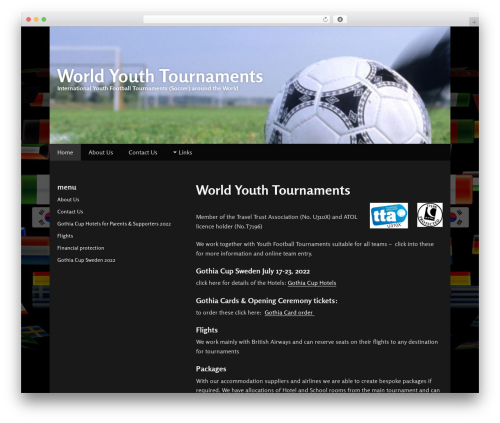 Gumbo WordPress template - worldyouthtournaments.com
