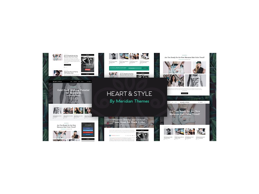 Heart and Style WordPress blog template