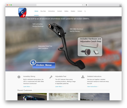 INOVADO WordPress page template - ultimateclutchpedal.com