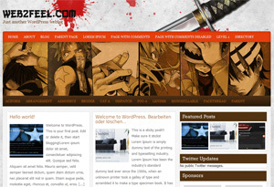 katana WordPress website template
