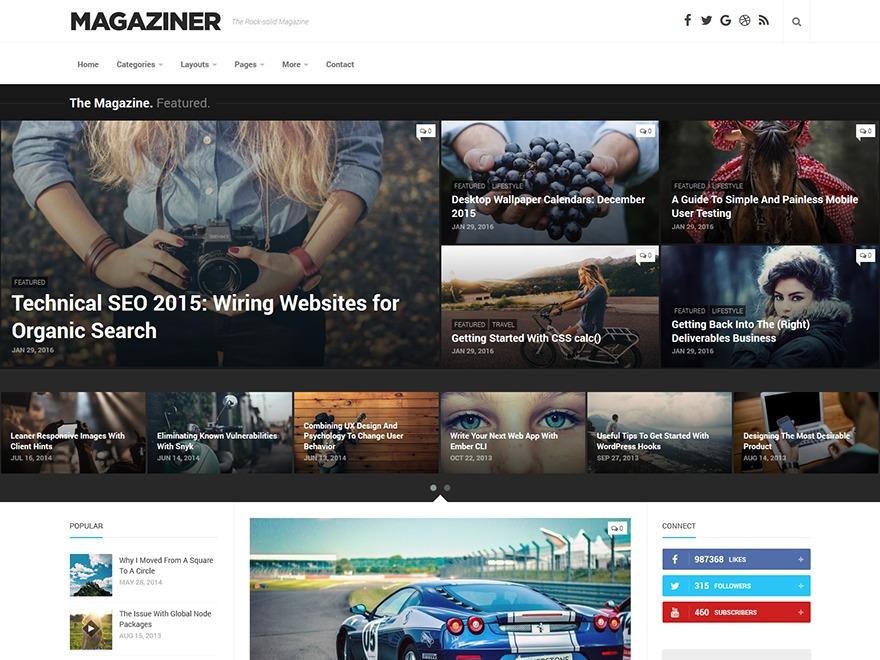 Magaziner WordPress magazine theme
