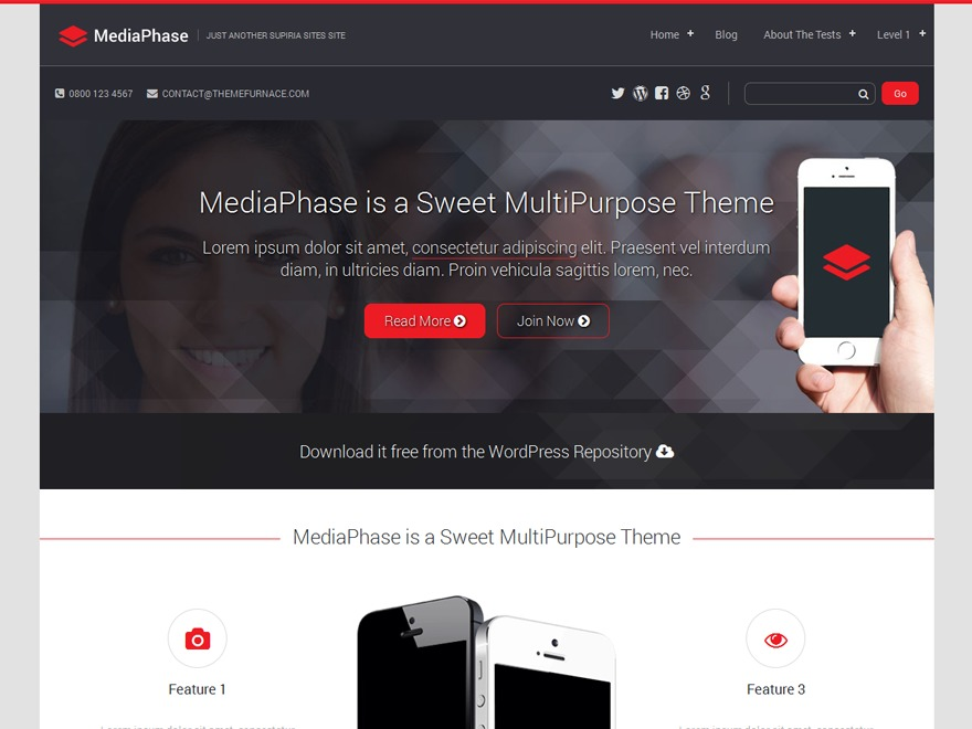 Mediaphase WPlift WordPress news template
