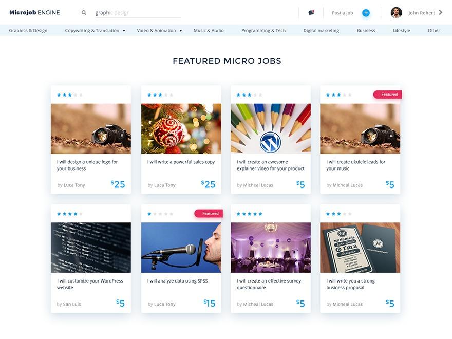 MicrojobEngine WordPress website template