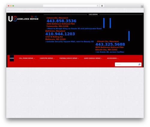 Mix Store premium WordPress theme - uswirelessrepair.com