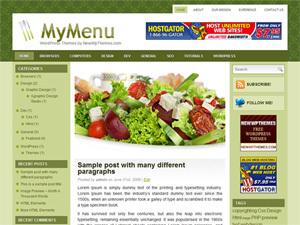 My Meny WordPress theme design
